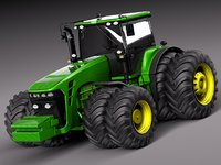 John Deere 8530 tractor double wheels