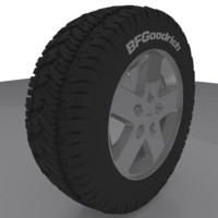 jeep rim wheel tire 3d 3ds