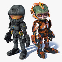 scifi troopers 3d max