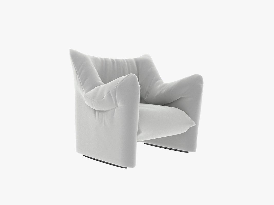 chair cassina armchair 3d max
