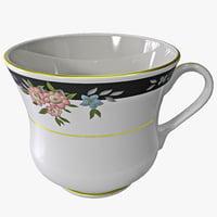 3d tea cup model