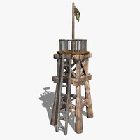 3dsmax wooden tower
