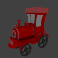 train car 3d 3ds