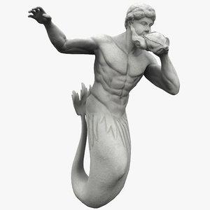 3ds triton statue