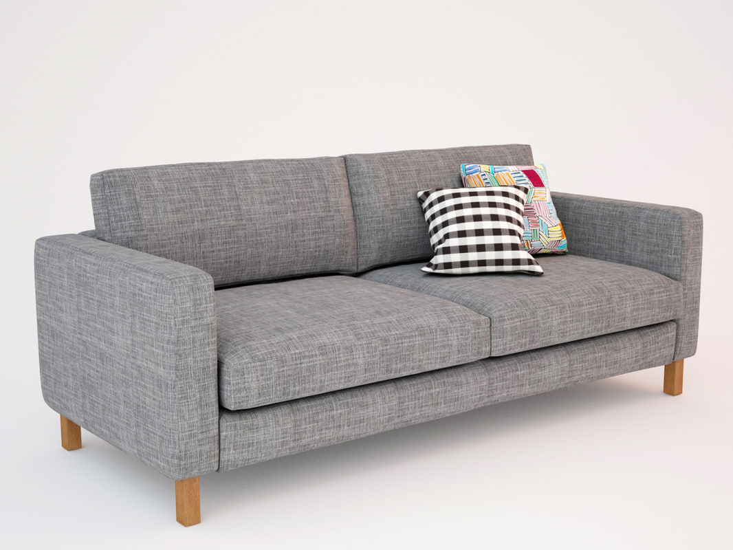3d ikea karlstad sofa seat for Ikea gray sofa