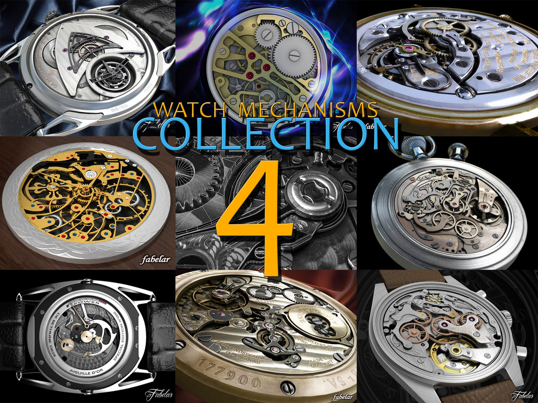 3d watch mechanisms