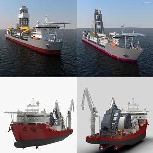 ship apache 3d 3ds