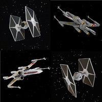 X-WIng and Tie Fighter