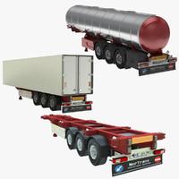 3d model tank truck trailer