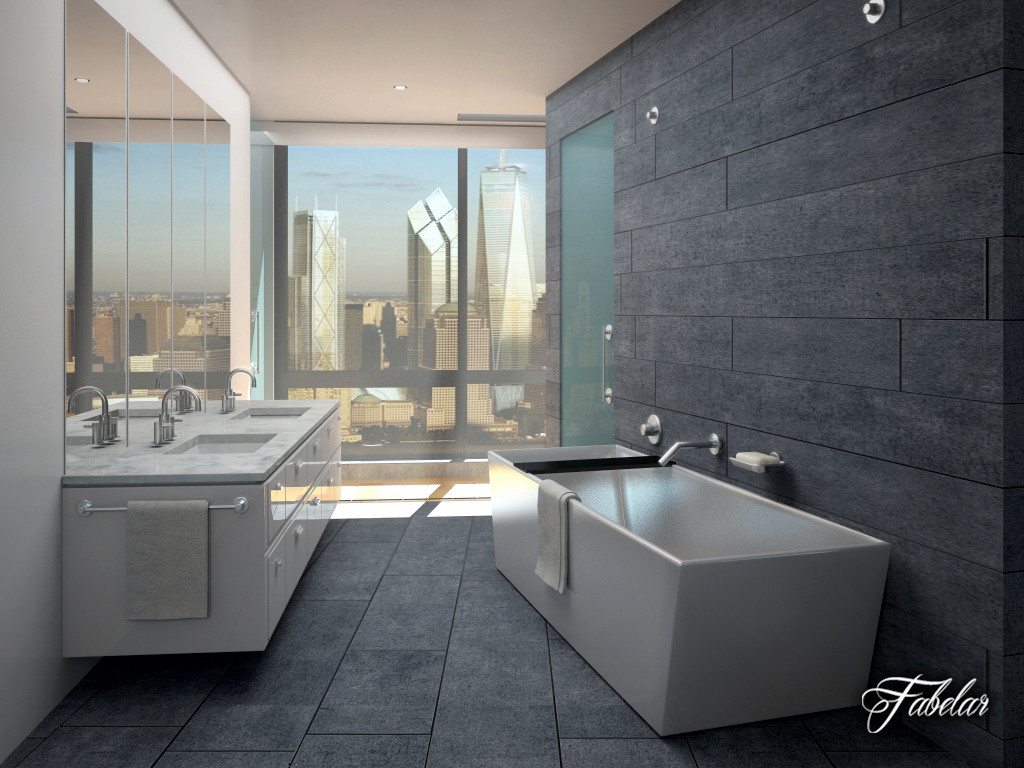bathroom scene 3d max