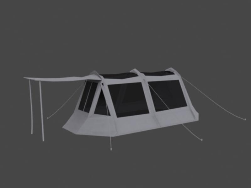 camp tent 3d model