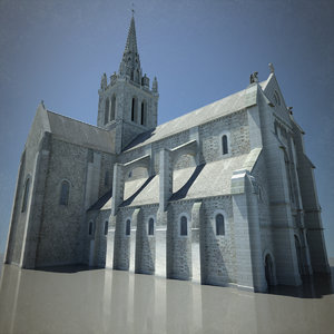 european cathedral 3d max