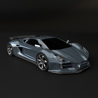 designer supercar concept 3d model