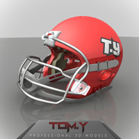3d american football helmet logo model