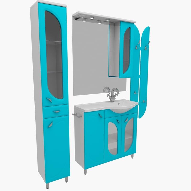 3d model of bathroom furniture