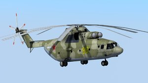 russian military helicopter mi-26 halo 3d model