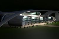 3dsmax beautiful modern building