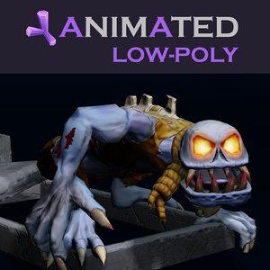 ghoul zombie grave 3d model