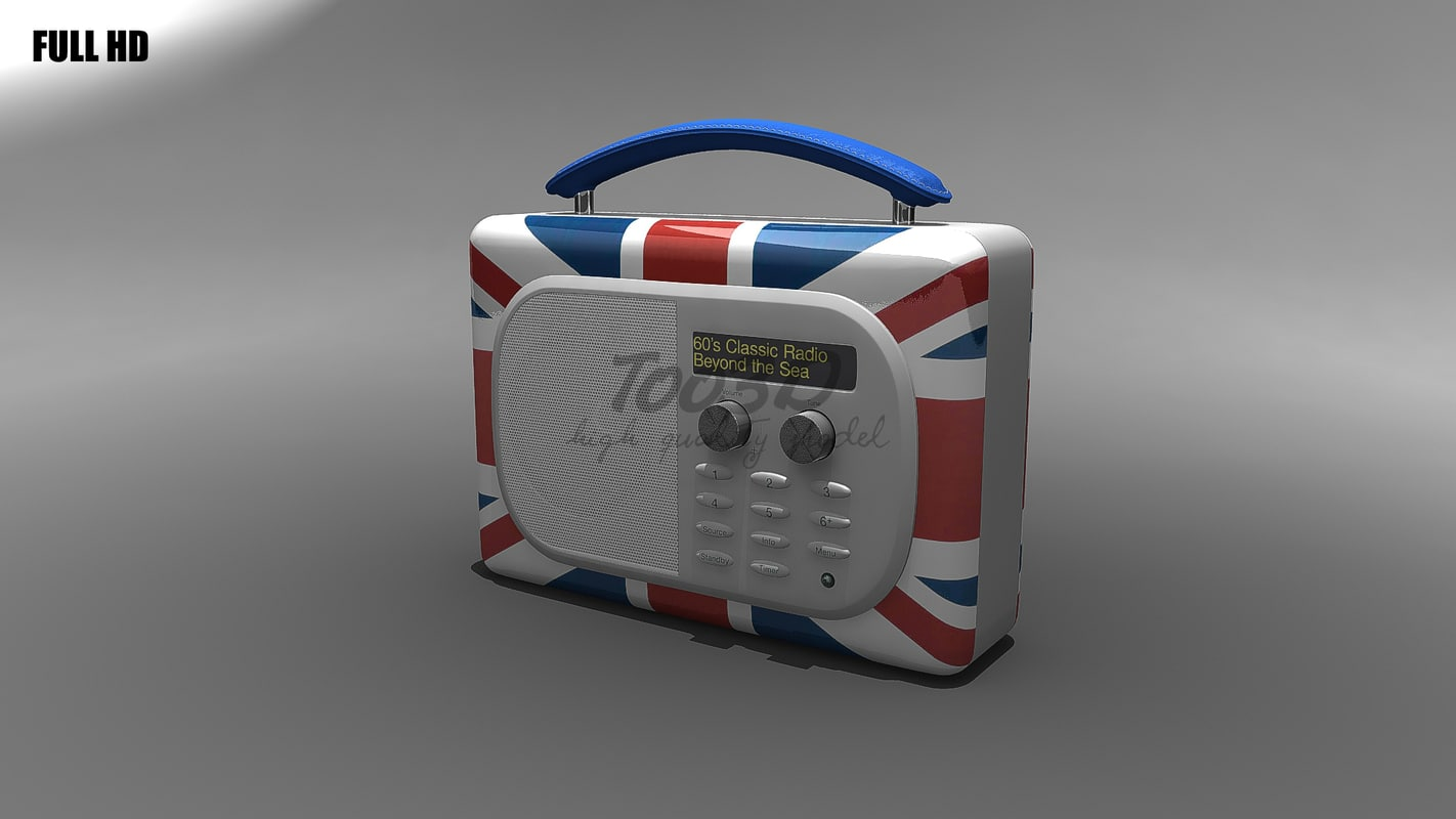 3ds max portable radio