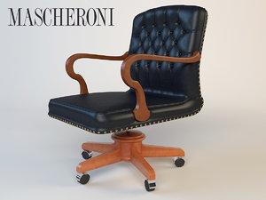 3d luxury armchair mascheroni