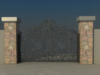 house gate vol3 3d max