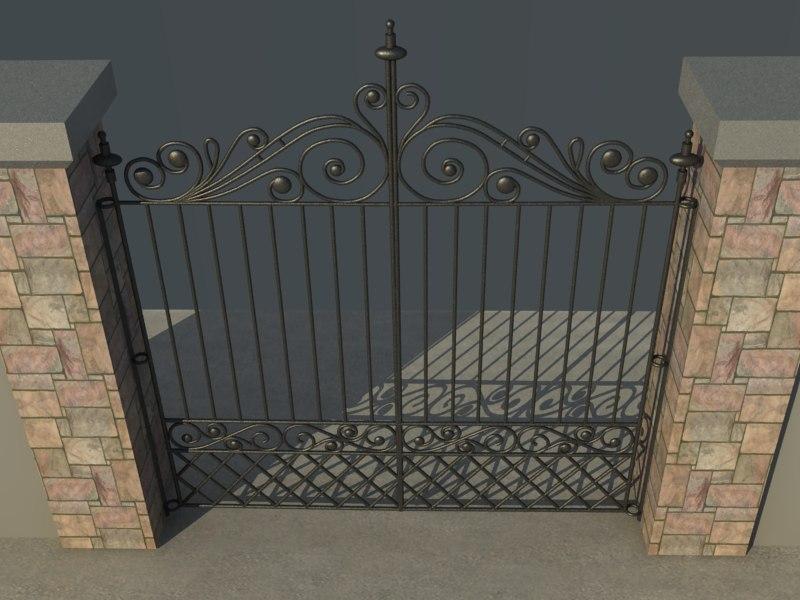 3d model house gate vol1