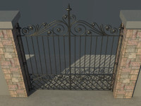 3d model house gate vol1