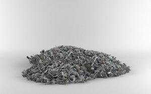 3d model pile scrap