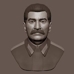 3d iosif stalin model