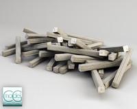 3d model wood pile