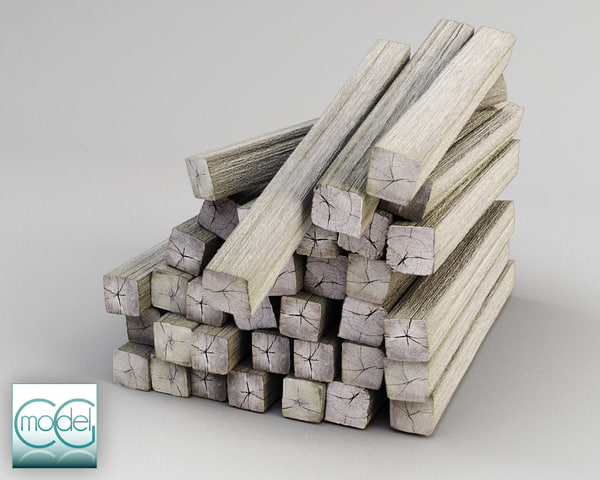 3ds max wood pile