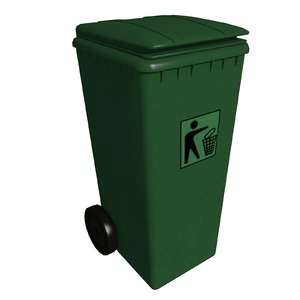 3d max waste bin m-01