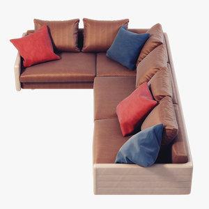 wally sofa giorgetti 3d model