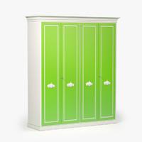 pm4 armadio wardrobe 3d model