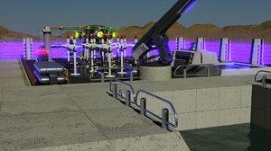 industrial power plant 3d 3ds