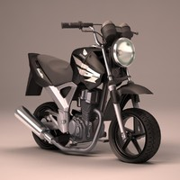 3d honda cbx toon bike model