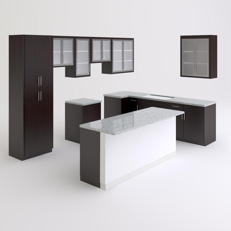max kitchen cabinets island