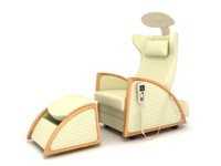 massage relaxation chair 3d model