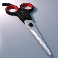 3d model of realistic scissors