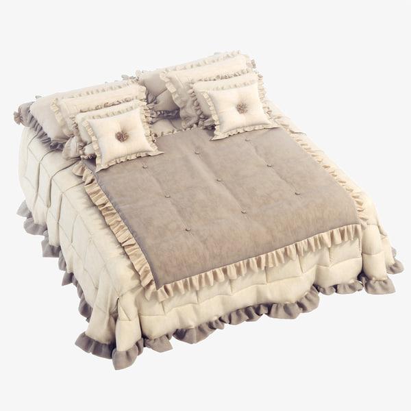 classic bedcloth bed 3d 3ds