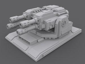 3d laserturret turret model