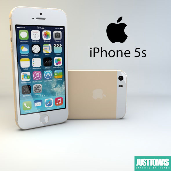 apple iphone 5s 3d c4d