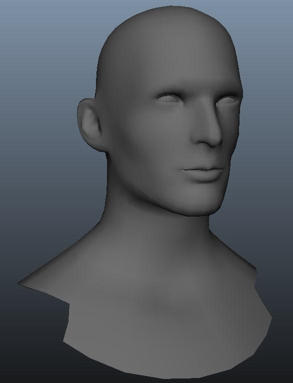 3d head base model