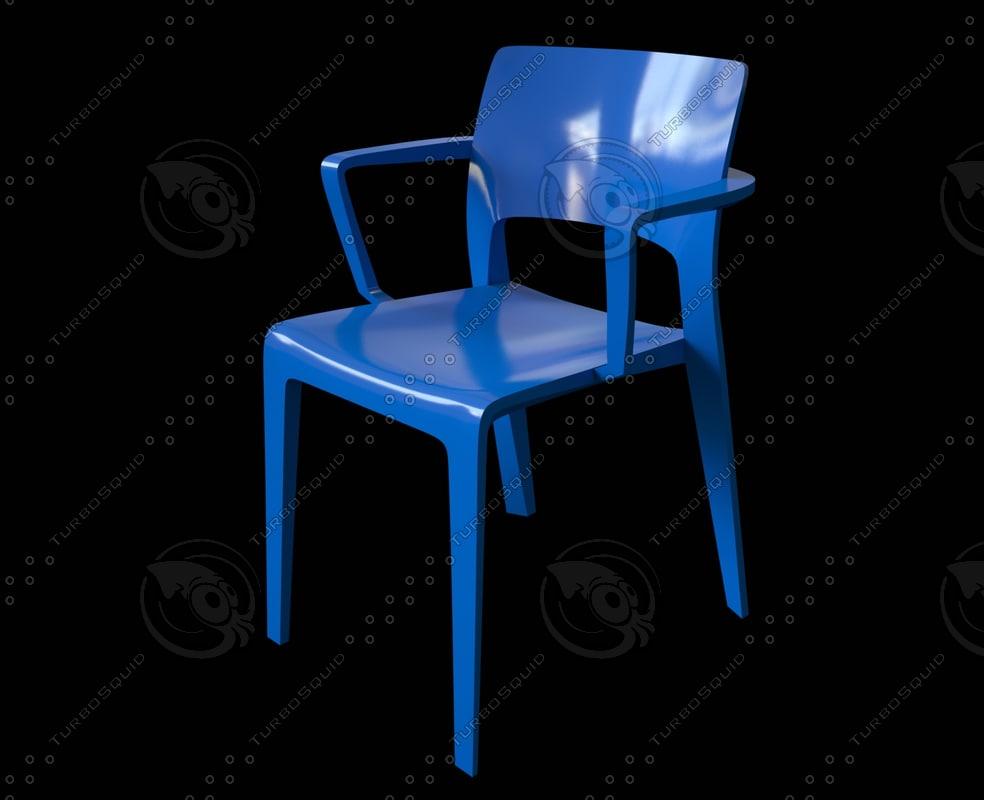 juno open backrest design 3d model