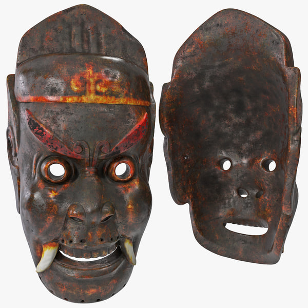 asian tribal mask max