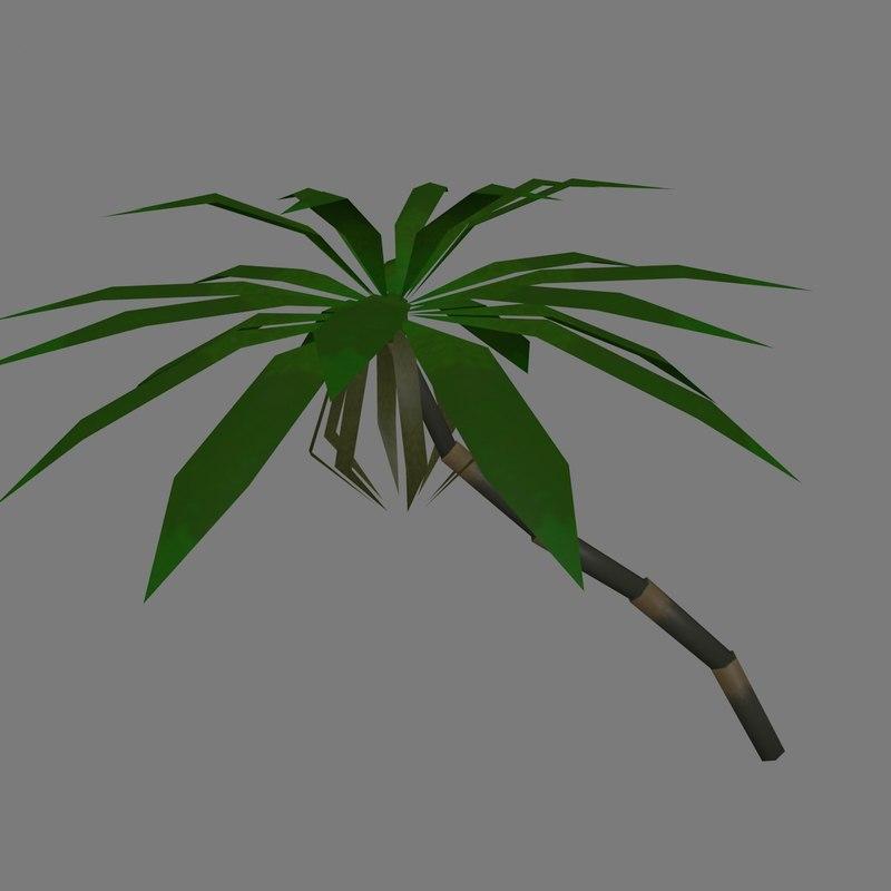 palm modular trees banana 3d 3ds