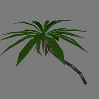 palm modular trees banana 3d 3ds