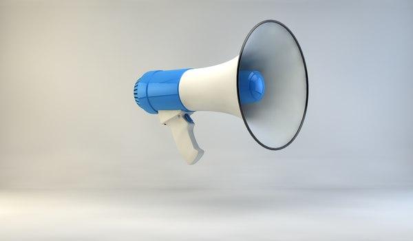bullhorn bull horn 3d model