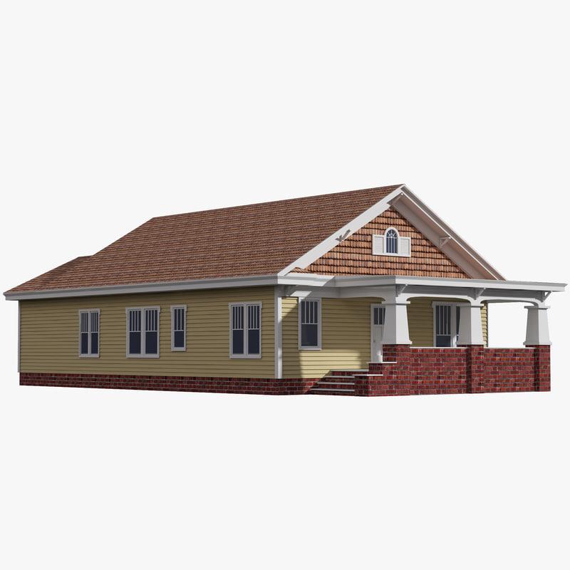 bungalow house c4d