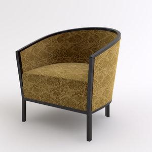club chair 3d max